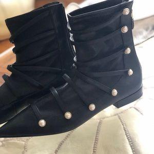 Zara ankle booties, unique design